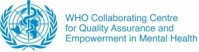 Das Logo des WHO Collaborating Centre for Quality Assurance and Empowerment in Mental Health